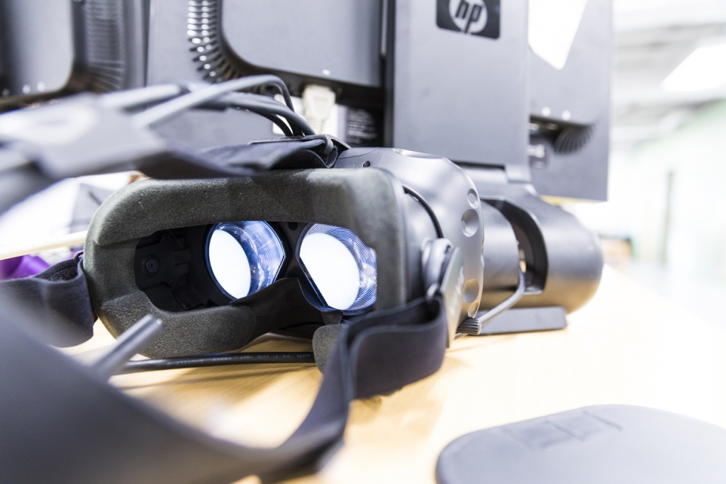 VR goggles from demonstration of ortho projects at the AMP Lab