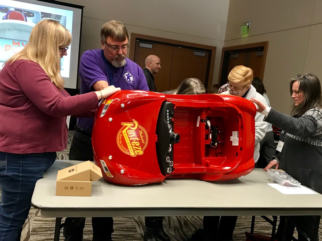 Go Baby Go team adapts toy car for children with disabilities