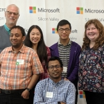 Richard Ladner, mentor, and 5 UW students at Study Away Silicon Valley